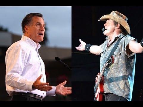 DNC's Ted Nugent Mitt Romney AttackAd