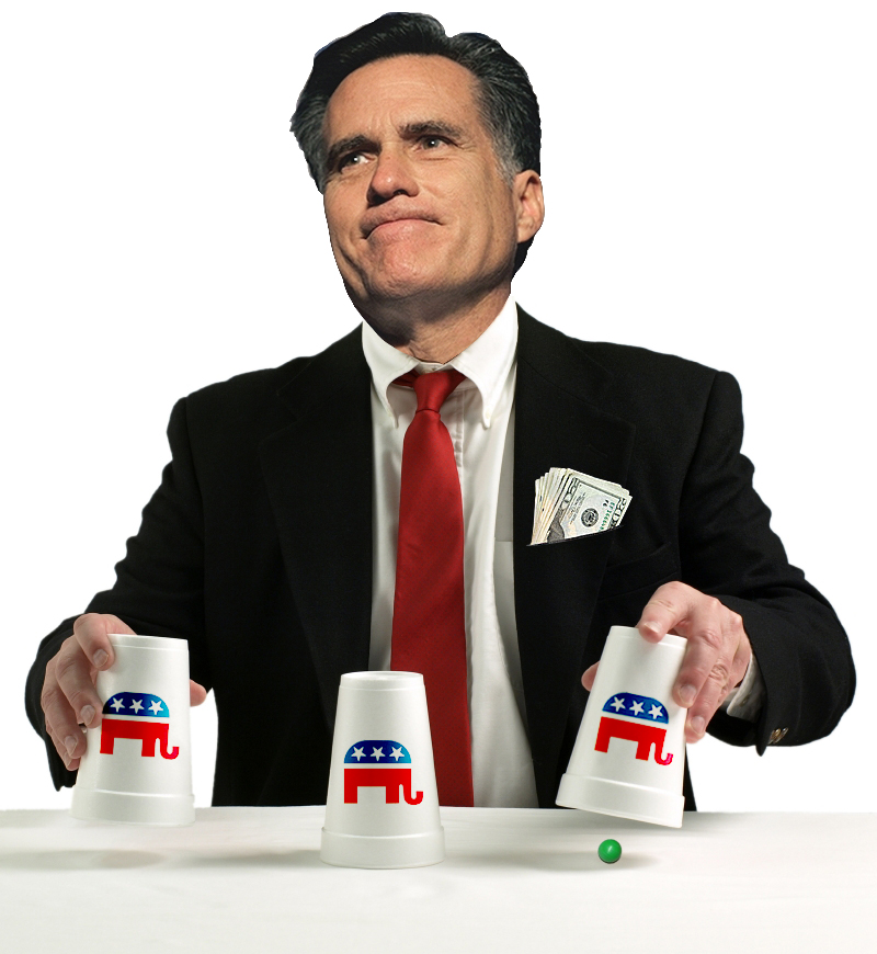 Mitt Romney :: Shell Game