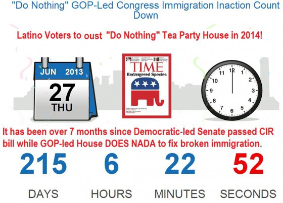 Hispanic Voters to Help Oust Tea Party House: Over 7 Months Since Do Nothing GOP-Led House Attempted to Fix Broken Immigration