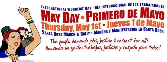 EVENT ALERT: May Day / Primero de Mayo 2014, Santa Rosa,CA