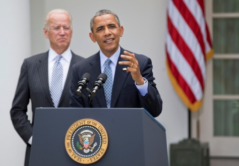 President Obama and Vice President Biden at the White House (Manuel Balce Ceneta, ,AP)