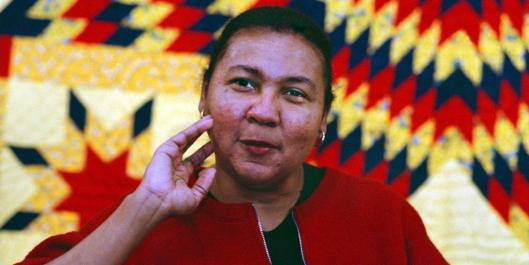 01/20/99 Black feminist Bell Hooks during interview for her new book. Said the feminist writer who a