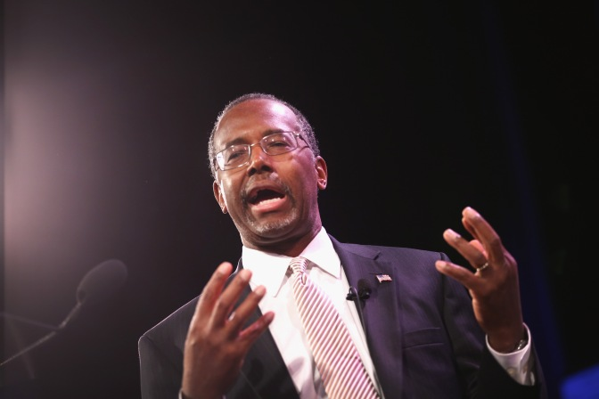 Carson says being gay is a choice — citing prisons
