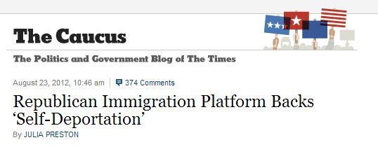 self deportation