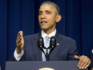 Image: Jacklyn Martin/Associated Press, President Obama discusses achievements of the ACA over the past five years.