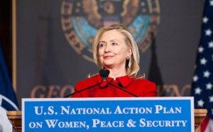 Clinton speaking at Georgetown University in 2011. Picture courtesy of Georgetown University.