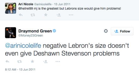Draymond Green Tweet about LeBron