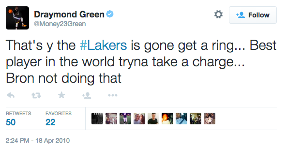 Draymond Green Tweet about LeBron